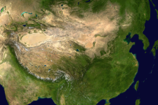 The China-Brazil Earth Resource Satellite-04 can cover areas of China's size (Image: NASA)