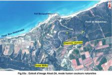 Extract from ALSAT-2A image of Benabdelmalek Ramdane in Mostaganem Province, Algeria (Image: ASAL)