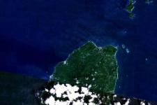 Kick'em Jenny volcano, located just off the coast of Grenada (Image: NASA)