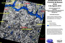 Satellite image of the flood in Buenos Aires province (Image: CONAE)