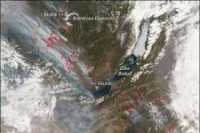 Wildfires over the same Siberian area occurred in 2008 (Image: NASA)