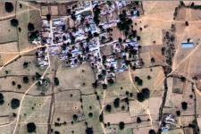 Satellite image of an isolated settlement in Kano, Nigeria (Image: DigitalGlobe)