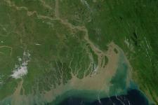 NASA satellite Image of Bangladesh's physical features