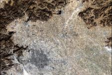 Satellite image of Beijing, China
