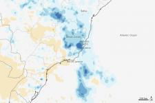 Satellite imagery shows extreme rainfall in Brazil