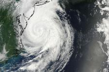 Hurricane Arthur captured by NASA on 4 July.
