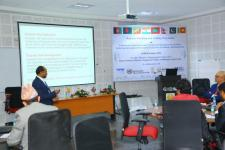 UN-SPIDER lecture during the SAARC regional workshop and training.