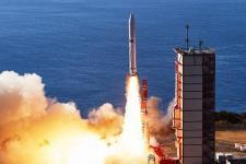 An Epsilon-4 rocket lifts-off from Uchinoura Space Centre in Japan on 18 January 2019. Image: JAXA.
