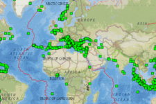 Screenshot of Historical Earthquake Database