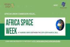 Banner for the Africa Space Week. Image: Space in Africa.