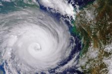Cyclone Idai west of Madagascar. Image: ESA