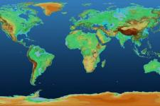 Global TanDEM-X Digital Elevation Model. Image: DLR.