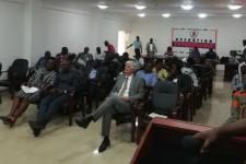 Participants at the UN-SPIDER Institutional Strengthening Mission in Ghana, October 2018.