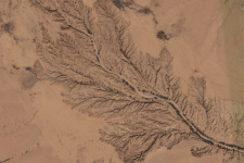 Erosión de barrancos en el norte de Somalia. Imagen: Google Earth.