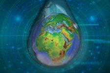 Artwork for Hydrospace-GEOGloWS 2021. Image: ESA.