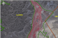 Identified locust reproduction zones at the border between Libya and Algeria
