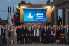These days, the Champs-Elysées in Paris hosts a Climate Cube (Image: ESA).