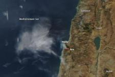 Israel fire in 2010. Image: NASA's archive