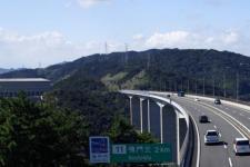 The Kobe-Awaji-Naruto expressway at Naruto, Tokushima prefecture, Japan.