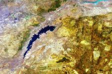 Lake Kariba in Zimbabwe, image courtesy of ESA