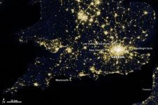 The Lights of London. Image: NASA Earth Observatory.