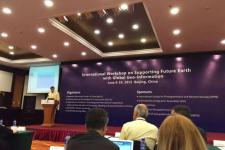 UN-SPIDER's programme coordinator, Luc St-Pierre, speaking at the international workshop