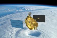 Artist Rendition of TRMM Satellite
