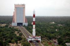 PSLV C11 Rocket being readied to Launch