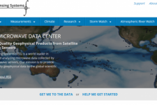 Screenshot of Remote Sensing Systems (RSS)