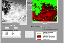 Classification of a Forest Fire in Salamanca Island Road Park, Colombia, based on a 8 LDCM Landsat image