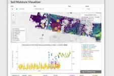 Screenshot of ORNL DAAC Soil Moisture Visualizer.