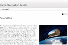 Screenshot of TerraSAR-X (DLR)