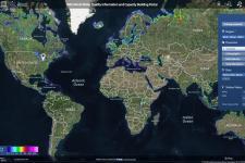 Captura de pantalla del Portal de Información y Calidad de la Calidad del Agua Mundial UNESCO-IWQ.