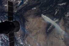 Western U.S. wildfires seen from space