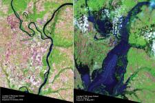 Mississippi River floods in April and May 2011.