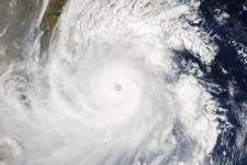 Tropical Cyclone Fani reaches the eastern coast of India on 2 May 2019.
