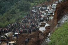 Landslide in Santa Catarina Pinula, Guatemala due to heavy rains. (Source: The Wiire.com)