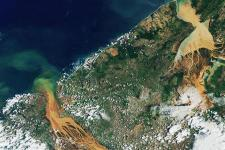 Floods in northern Madagascar in late January 2020. Image: NASA.