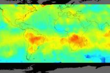 OCO-2 measurment from 2014. Image: NASA