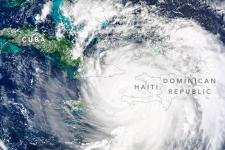 Hurricane Matthew 2016, Haiti. Courtesy of NASA Earth Observatory