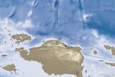 2009 earthquake in Papua, Indonesia. Image: courtesy of NASA