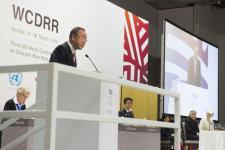 UN Secretary General Ban Ki-moon opened the WCDRR on 14 March in Sendai, Japan (Image: UN Photo)