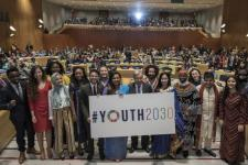 """United Nations High-Level Event on """"Youth 2030"""". Image: UN Photo/Mark Garten."""