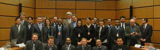 Participants of the 5th UN-SPIDER Regional Support Offices meeting, 13 February