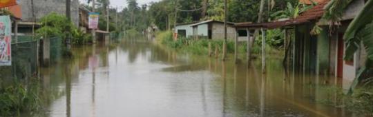 Kelani river during floods in Sri Lanka, May 2017